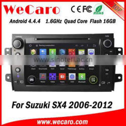 Wecaro WC-SU7058 android 4.4.4 car dvd player for suzuki sx4 android 2006 - 2012 3G wifi playstore
