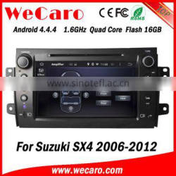 Wecaro WC-SS8081 Android 4.4.4 car stereo 1024 * 600 for suzuki sx4 car stereo WIFI 3G A9 cpu 2006 - 2012