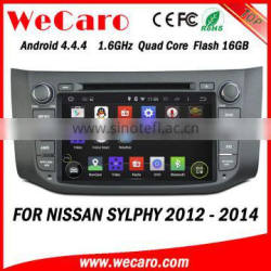 Wecaro WC-NU8053 Android 4.4.4 car navigation system for nissan sylphy car dvd player 2012 2013 2014