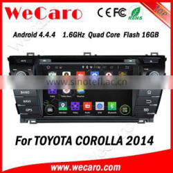 Wecaro WC-TC7019 Android 4.4.4 car dvd player touch screen for toyota corolla car dvd player bluetooth 2014 2015