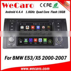 Top Version Android 4.4.4 car audio system in dash android car dvd player for bmw e53 x5 Android 1080p