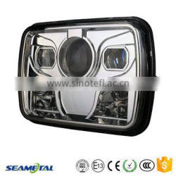"5""X7"" Inch Car Universal 25W 2000LM With CREE Chips LED Headlight Headlamp DOT Approved"