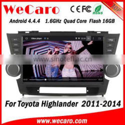 "Wecaro WC-TH1062 Android 4.4.4 car stereo 10.1"" 2 din for toyota highlander android car dvd Radio GPS 1080p 2008-2014"