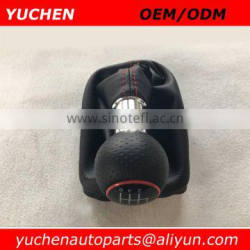 Car Shift Gear Knob Red Caps 12mm With Black/Red Stitches Leather For Audi A3 8L S3 2000-2003