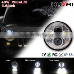 "Quality Insurance Multi color J EEP led headlight 5.6"" Round LED Headlights White Switchback LED Any car led headlights for cars"