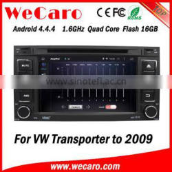 Wecaro WC-VU7006 Android 4.4.4 car dvd player touch screen for vw transporter car stereo WIFI 3G mirror link