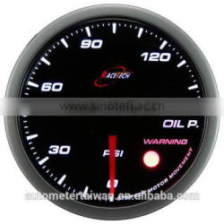 60mm Smoke Lens/Super White LED Oil Pressure Auto Gauge with warning function