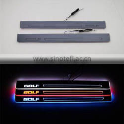 1 Pair Car LED Flash Door Sills Moving Scuff Plate Light Front Door For Volkswagen Golf Mk6 6 2009-2013
