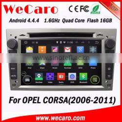 WECARO Double Din GPS Navigation Android Car CD Mp3 Player for Opel Corsa d 2006 - 2011