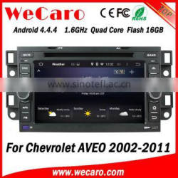 Wecaro WC-CU7011 Android 4.4.4 car multimedia system in dash for chevrolet aveo dvd player android bluetooth 2002 -2011