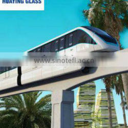 Electrically heated glass for locomotive