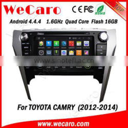 Wecaro WC-TC8016 Android 4.4.4 car dvd player quad core for toyota camry car radio tomtom stereo tv tuner 2012-2014 Quality Choice