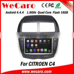 Newest Android 4.4.4 in dash car dvd player for citroen c4 car dvd gps navigation system