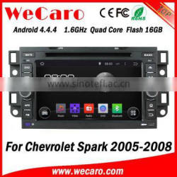 Wecaro WC-CU7011 Android 4.4.4 car stereo 1024 * 600 for chevrolet spark car multimedia system WIFI 3G GPS 2005-2008