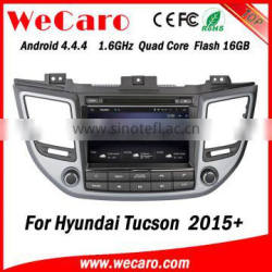 Wecaro WC-HU8015 Android 4.4.4 car dvd player quad core for hyundai tucson 2015 android car dvd stereo 16GB Flash