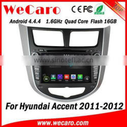 Wecaro Android 4.4.4 car dvd player for hyundai accent navigation system 2011 2012