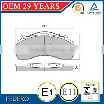 brake pads truck with OE quality WVA29087, D1203-8323 no noise