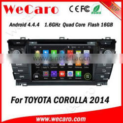 Wecaro WC-TC7019 Android 4.4.4 car multimedia system double din for toyota corolla android car dvd audio system 2014 2015