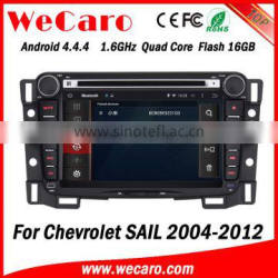 Wecaro WC-CS7048 Android 4.4.4 car dvd player touch screen double din radio for chevrolet sail WIFI 3G mirror link 2004 - 2012