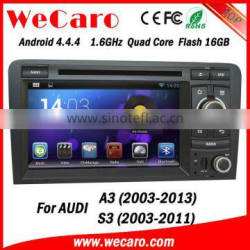Wecaro Android 4.4.4 in dash touch screen car dvd gps navigation system for audi a3 2003-2013 WIFI + 3G + BLUTOOTH + GPS Quality Choice