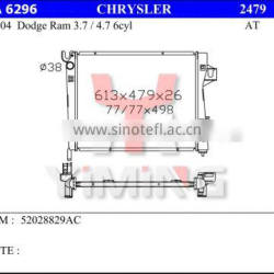 Auto radiator for Chrysler Dodge Ram 3.7 4.7 6cyl 52028829AC AT