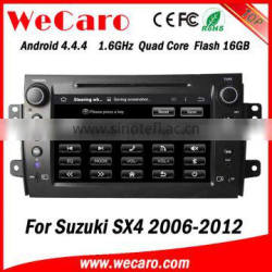 Wecaro WC-SS8081 Android 4.4.4 car multimedia system in dash touch screen car radio gps for suzuki sx4 radio gps 1080p
