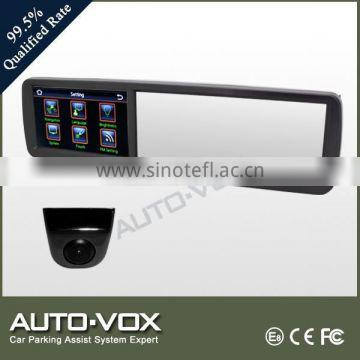 digital car mirror monitor Car rearview mirror monitor with DVR and GPS