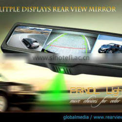 Multiple display mirror- backup camera display rearview mirror with three LCD monitors for trucks