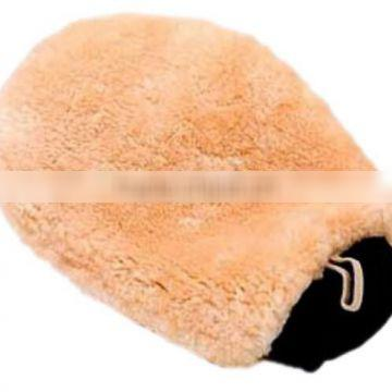 Durable car cleaning lamb wool mitt car washing glove