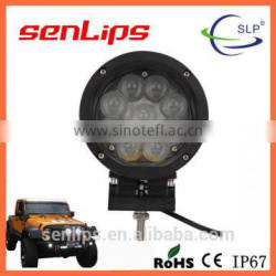 Hot-Sell 45W Circular Spot beam LED work light for all vehicles white black optional