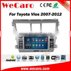 Wecaro WC-TV7011 android 5.1.1 car radio navigation for toyota vios 2007-2012 car dvd gps wifi 3g playstore