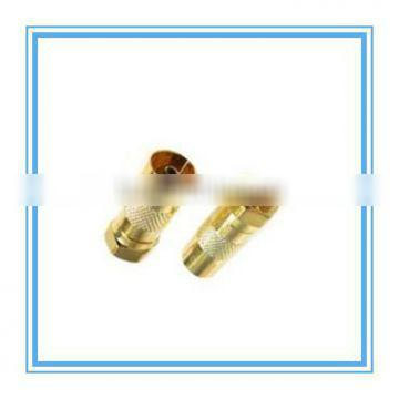 f male straight rf coaxial connector lug for cable rg 58/u