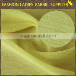 Shaoxing textile poly chiffon light weight chiffon crepe fabric