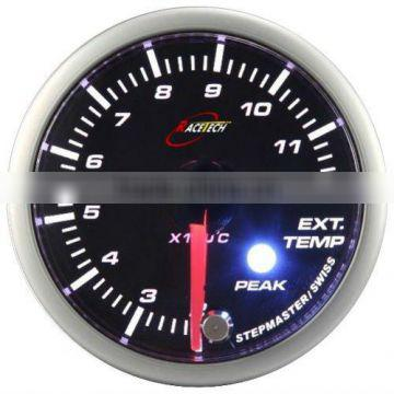 52mm smoke lens/ super white & amber LED Exhaust Gas Temp gauge with warning & peak recall