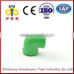 green high quality ppr fitting 90 degree equal elbow
