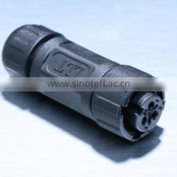 3 poles waterproof auto wire connector