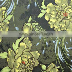100% polyester woven floral design fabric for women