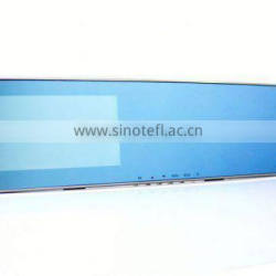 Chelong Special Designed 4.3inch 195 Degree Arc Mirror Dual Lens G-sensor GPS 4.3 inch dvr mirror monitor with 1080p
