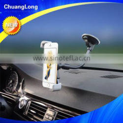 "360 Rotating Diagonal Design Flexible Gooseneck Windshield Car Cup Phone Holder For 3.5-6"" Smartphone"