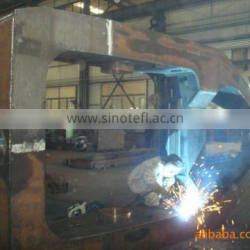 large steel parts precision welding fabrication work by AWS welders
