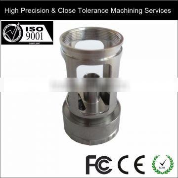 Stainless Steel Machining Electronic Cigarette Parts Made by CNC Automatic Lathes with Plating Anodizing