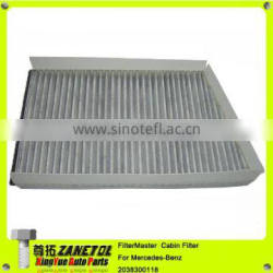 Air Filter Activated Carbon Cabin Filter for Mercedes Benz CLK350 CLK550 CLK500 C250 C350 E300 2038300118