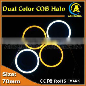 70mm dual color switchback COB halo ring