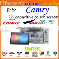 detachable panel car multimedia for Toyota CAMRY DM7851C