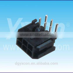 Dongguan manufacturer MX 3.0mm pitch 6pin dual row right angle A type Wafer&Housing connector