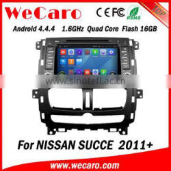 "Wecaro 8"" android 4.4.4 WC-NS8011 WIFI 3G car navigation system for Nissan SUCCE car dvd player 2011 2012 2013"