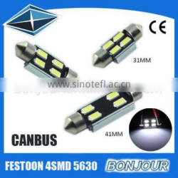 bonjour wholesale high quality led festoon 5704 smd canbus led light for car