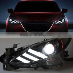 1Pair 12V 10W Car Headlights Head Lamp Front LED DRL+ Reverse Light For Mazda 3 BM 2013+ 2014 2015 2016 Quality Choice