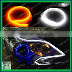 60cm dual white amber switchback headlight strip led drl light style tube