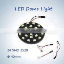 BONJOUR car light auto dome light 24 leds 12v led